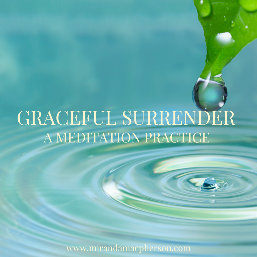 GRACEFUL SURRENDER a downloadable audio guided meditation by spiritual teacher Miranda Macpherson