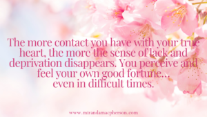 Contact your true heart with spiritual teacher Miranda Macpherson