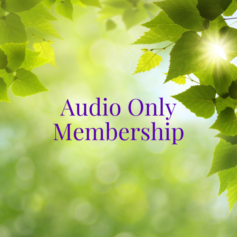 Audio only membership of the Living Grace Global Sangha with spiritual teacher Miranda Macpherson